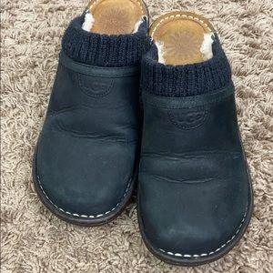 uggs gael knit cuff wedge slip sz 7